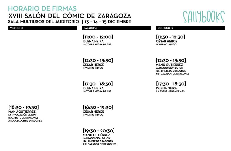 Firmas en el Salón del Cómic de Zaragoza