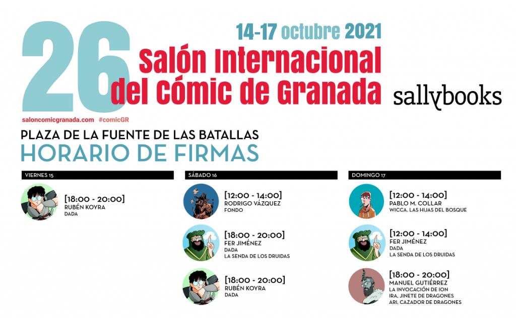 Firmas de Sallybooks en el 26 Salon del Comic de Granada